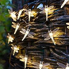 Patio Party Decorations Amazon Com Pansdore Christmas Lights Metal Dragonfly String