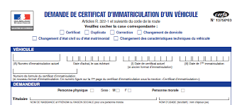 bureau des immatriculations aide cerfa 13750 03 immatriculation véhicule occasion le