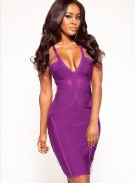 fitted dresses purple v neck sleeveless slim fitted bandage dress lalalilo