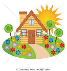 house garden clipart clipartxtras