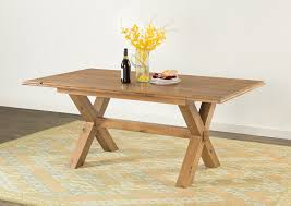 cross leg coffee table hartford cross leg dining table 60 17 papaya trading