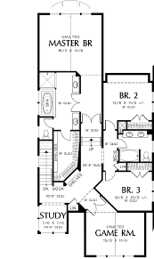 style narrow lot plan 69089am architectural