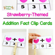 strawberry math clip cards