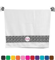zebra print u0026 polka dots bath towel personalized potty