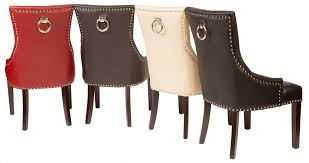 Leather Dining Chairs Canada Home Decor Amusing Studded Dining Chairs With Fontwell Matt Smart