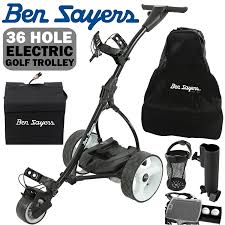 ben sayers electric golf trolley 36 hole battery 100 free