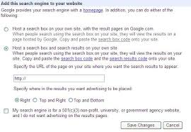integrate and display google adsense for search and co op custom
