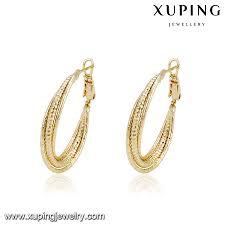saudi arabia gold earrings 93719 xuping saudi arabia gold earrings 14k gold color earrings