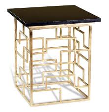 pendleton antique gold leaf geometric contemporary side table