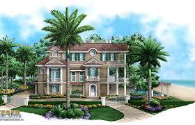 caribbean home plans seaside place home plan caribbean coastal design story plans house