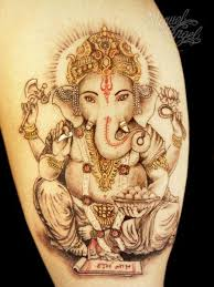 tattoos of the god ganesh create a skin religion articles