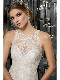 wedding dress size 16 mori 8173 mimi lace fit and flare wedding dress size 16