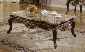 Cherry Coffee Table Cherry Traditional Marble Coffee Table