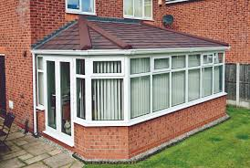 a very good looking double hipped lean to conservatory roof