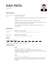 Sample Resume For Maintenance Engineer by Production Engineer Resume Samples Visualcv Resume Samples Database