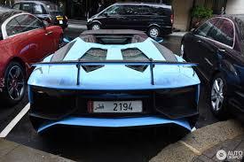 Blue Lamborghini Aventador - blue lamborghini aventador superveloce roadster from qatar the