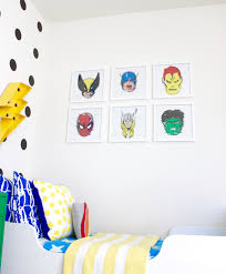 diy colorful modern boys superhero room make u0026 do studio