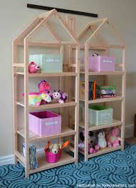 Plan To Build A House by Remodelaholic Diy House Frame Bookshelf Plans