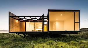 single story house set on top of the hill is designed for two