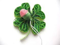 paper quilled four leaf clover 5 x 7 canvas paper