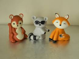 squirrel cake topper fox raccoon squirrel cake toppers
