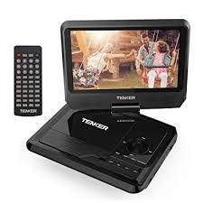 what format dvd player read amazon com tenker 9 5 portable dvd player with swivel screen