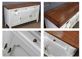antique white buffet table buffet in antique white milk paint and brown mahogany gel stain