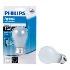 home depot microwave light bulb 25 watt a15 frost appliance incandescent light bulb 415331 the