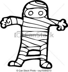 vector clip art of cartoon halloween mummy csp15564213 search