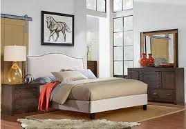 Upholstered Bedroom Furniture by Asher Rustic Transitional Bedroom Furniture Collection