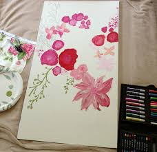 How To Do Wall Painting Designs Yourself by Livelovediy How To Make Easy Floral Art