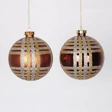 vickerman glitter plaid shatterproof ornament