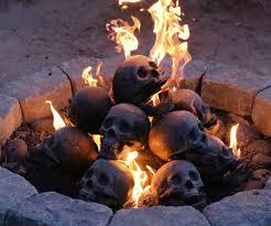 skull gas fireplace logs dudeiwantthat com