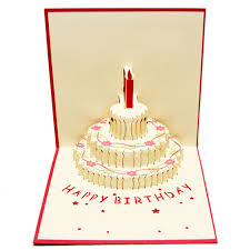 greeting card aliexpress buy birthday cake candle design greeting card 3d