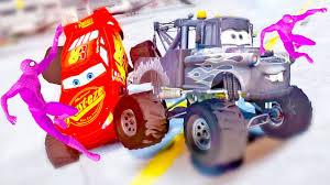 childrens monster truck videos pink spiderman monster trucks lightning mcqueen u0026 mater disney