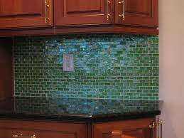 Glass Kitchen Tile Backsplash Ideas - Green glass backsplash tile