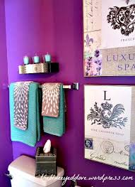 purple bathroom ideas the teal and purple together home ideas
