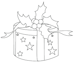 coloring pictures of christmas presents coloring drawing