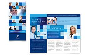 technical brochure template technology consulting it tri fold brochure template design