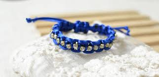 cord bracelet with beads images How to make a braided cord bracelet with beads and knots jpg