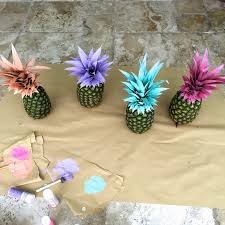 How To Make Home Decor Pineapple Diy How To Decorate With Pineapples Painted Pineapples