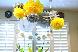 yellow and gray baby shower decorations photo bridal shower easy decorations grey image