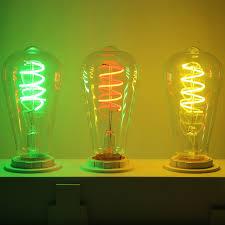 incandescent strip light bulbs uncleahtoh st64 spiral led strip light 2700k e26 e27 base glass bulb
