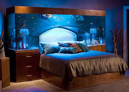 sleep with the fishes in custom made aquarium bed by acrylic tank