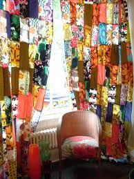 Funky Door Curtains by Maggie Alderson Vintage Scarf Curtain Amazing Vintage Scarfs Are