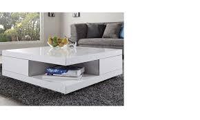 table basse blanc laqué carrée design marne hcommehome