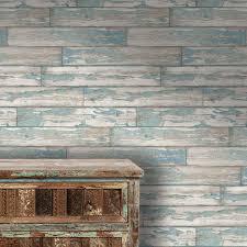 fatigued planks u0027 designer blue faux wood paint peeling plank
