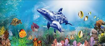 custom large murals fabric wallpaper 3d wall paper kids rom custom large murals fabric wallpaper 3d wall paper kids rom cartoon tv sofa back 3d68 underwater blue sea world beauty dolphins fish swim top wallpapers top