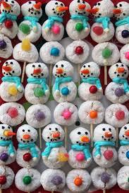 worth pinning powdered donut snowmen