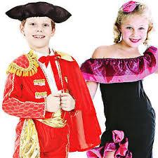 spanish national dress kids costumes flamenco matador childrens